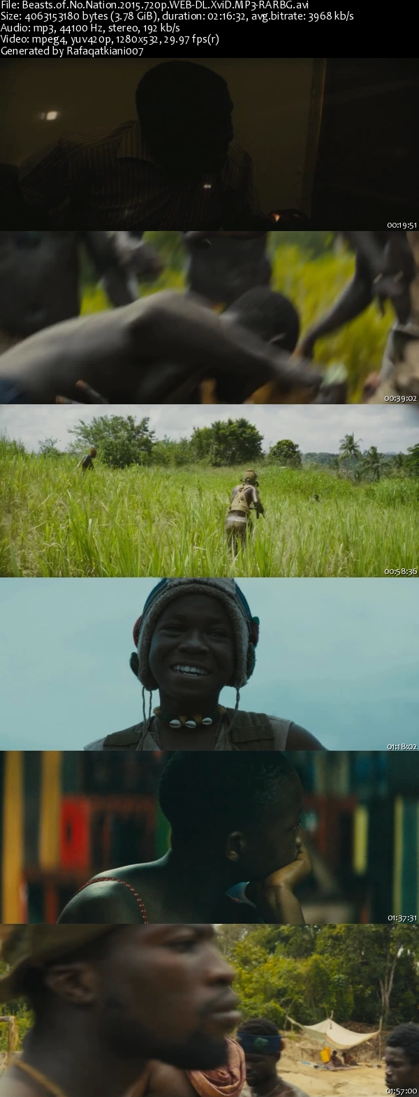 Beasts of No Nation (2015) 720p WEBRip XviD MP3-RARBG