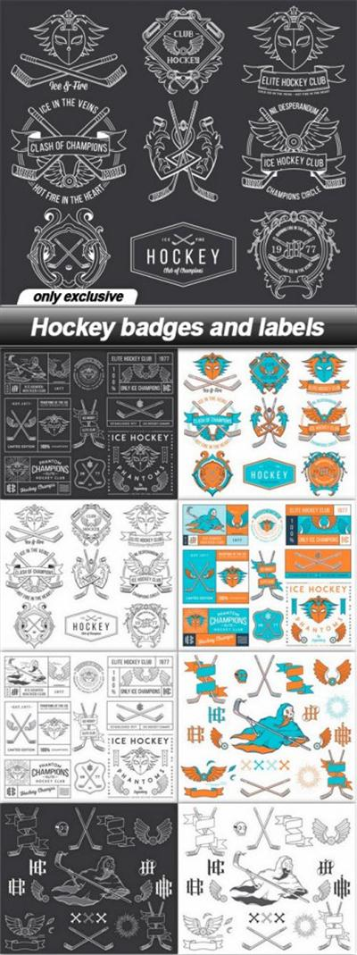 Hockey badges and labels - 9 EPS