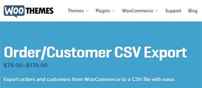 WooThemes - WooCommerce Customer/Order CSV Export v3.11.1