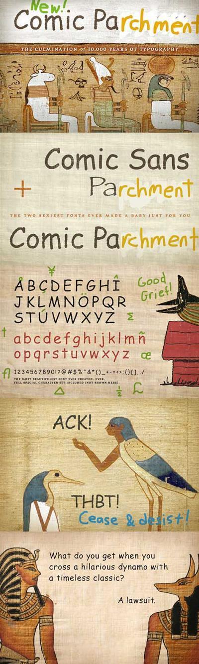 Comic Papyrus Font Style