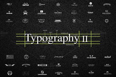 CreativeMarket - 50+26 UNIQUE Typography Logos II
