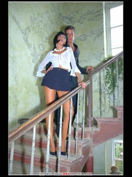 Pantyhose Stairs RedOptics.com