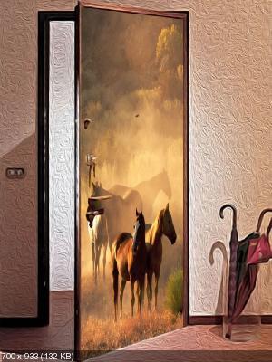 Преображаем внешний вид входной двери 12ee9c01de597824e75764216da29723