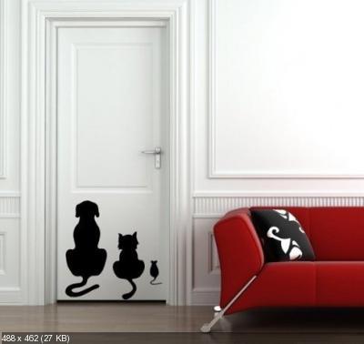 Преображаем внешний вид входной двери 6acea6124bac5cc19c9cdde55f7e6698