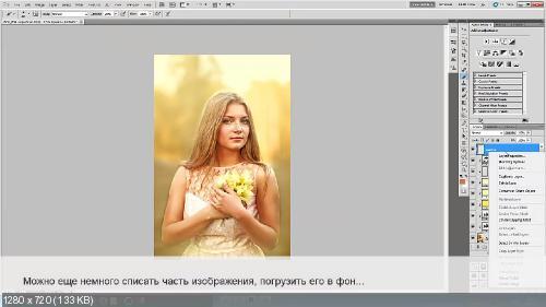 Анастасия Аникеева - Портрет с подснежниками