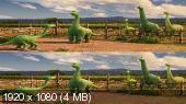 Без черных полос (На весь экран) Хороший динозавр в 3Д / The Good Dinosaur 3D (Лицензия)  Вертикальная анаморфная