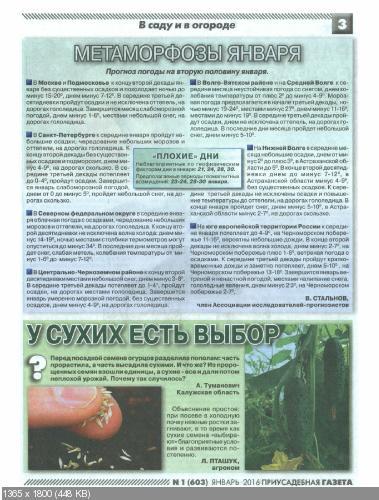 Приусадебная газета №1 (январь 2016)