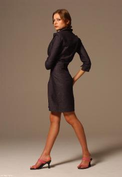 004 Luba In Denim Dress