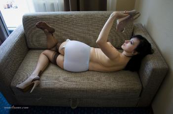 Just relaxing in nylons