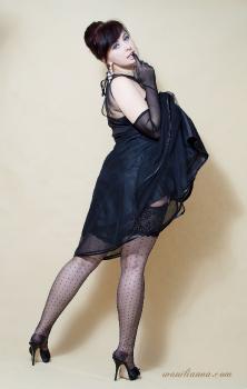 Vintage dot nylons and vintage model