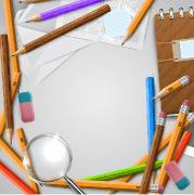 Офис и школа - шаблоны для дизайна (EPS)