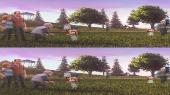 Без черных полос (На весь экран) Лунный флаг 3D / Capture the Flag 3D / Atrapa la bandera 3D Вертикальная анаморфная