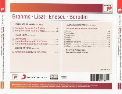 Brams Liszt Enescu Borodin  - Hungarian Dances Rhapsodies Polovtsian Dances  (NYP, Leonard Bernstein)/ 2010 SONY