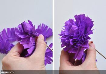 Цветы из гофрированой бумаги 282e131bd76adfc4b772777645ba699b